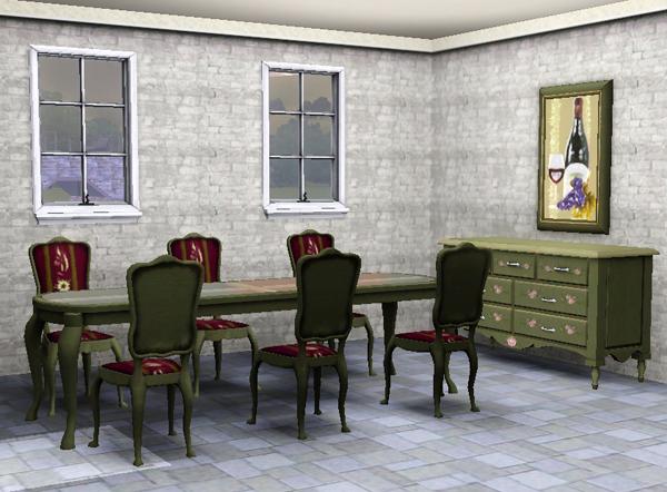 sims3 baraquesasims set lit de vin. Black Bedroom Furniture Sets. Home Design Ideas