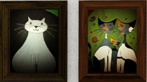 peintures chats modernes. Black Bedroom Furniture Sets. Home Design Ideas