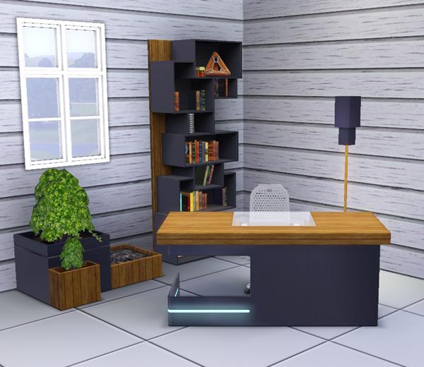 sims3 baraquesasims les chambres bureaux. Black Bedroom Furniture Sets. Home Design Ideas