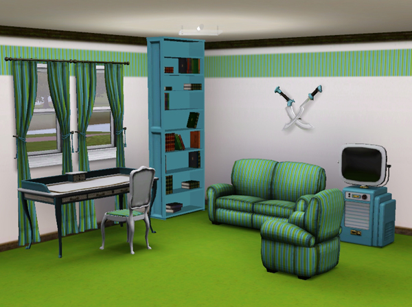 sims3 baraquesasims les chambres bureaux. Black Bedroom Furniture Sets. Home Design Ideas